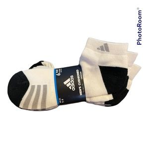 Men's Adidas Cushioned Climate Compression ankle Socks 6-pk